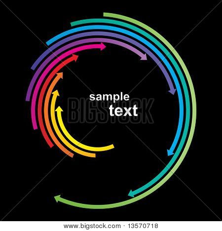 Colored arrows vector