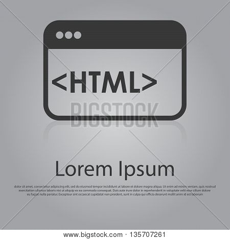 Vector Icon Of Html Concept