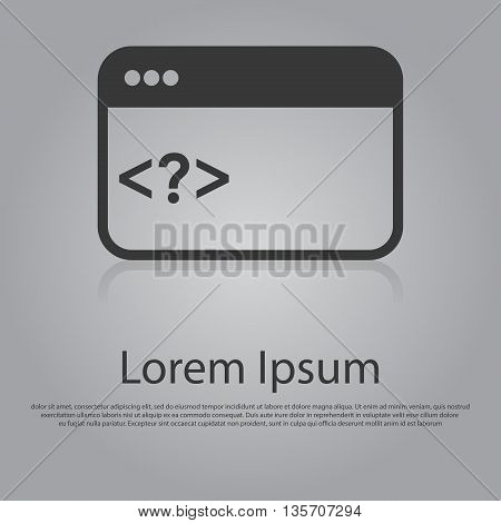 Vector Icon Of Web Coding Concept