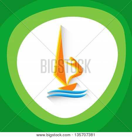 Sailing Sport Game Logo Sailor Competition Icon Vector Illustration