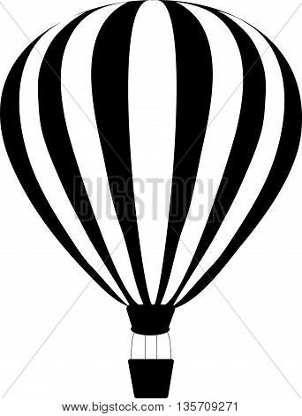 aerostats in sky. balloons in the sky, vector illustration