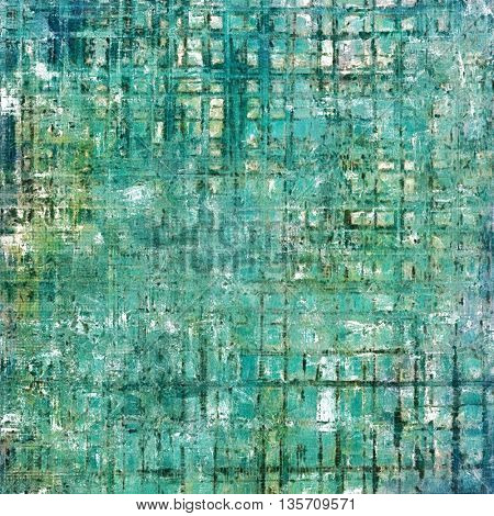 Old grunge vintage background or shabby texture with different color patterns: gray; green; blue; cyan; white
