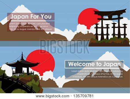 Set Banners Travel To Japan