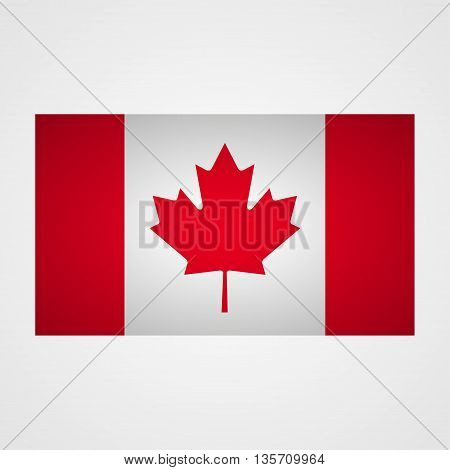 Canada flag on a gray background. Vector illustration