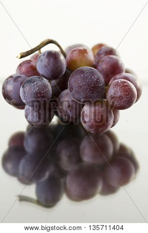 grapes with water drops. Ripe and sweet fruit.