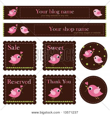 the birds-Premade shop Set