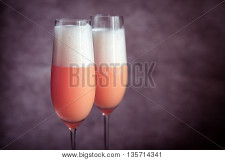 Two Bellini Cocktails