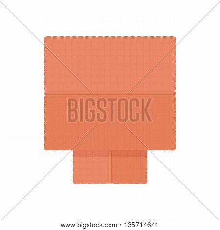 House building top view icon in cartoon style on a white background