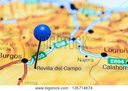 Revilla del Campo pinned on a map of Spain