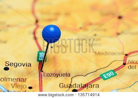Lozoyuela pinned on a map of Spain
