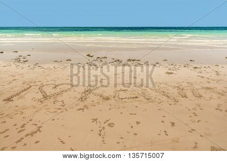 Malindi beach Indian ocean in Kenya Africa