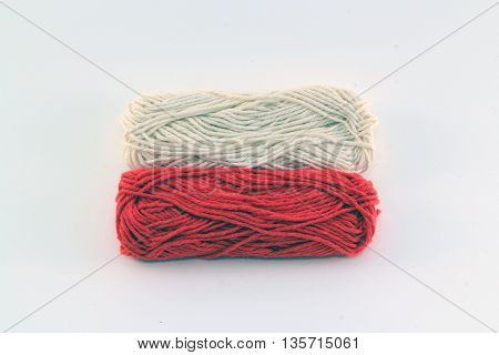 flag of wool in the colors of poland