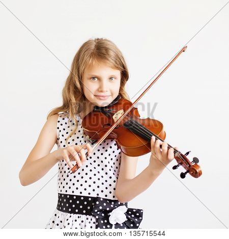 Portrait Of The Little Violinist.