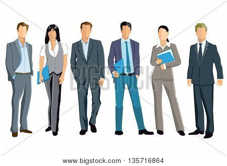 a group of professionals, businesspeople, personal management,
