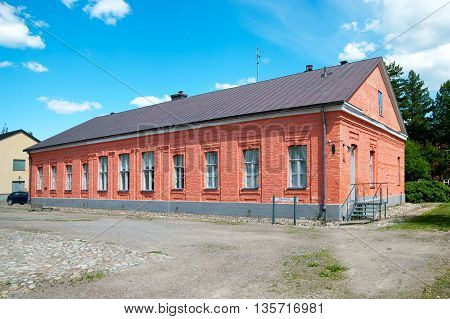 LAPPEENRANTA, FINLAND - JUNE 15, 2016: Former house of commandant in Lappeenranta Fortress (Villmanstrand). Was built in 1778. Located in historical part of town.