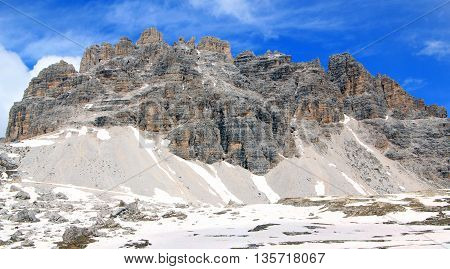 View On Summit Of The Alps (dolomiten)