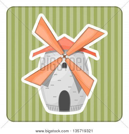 Cartoon Vector Illustration Of Mill