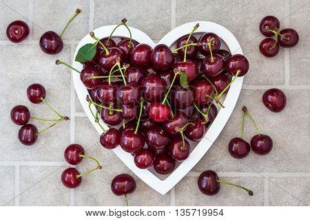 Fresh Wet Summer Cherry