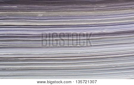 closeup  of papers stack for abstract background texture