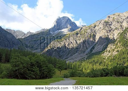 View On Mountain Chain In The Alps (karwendel)