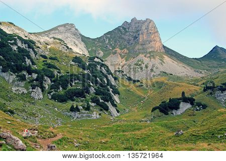 View On Mountain Chain In The Alps (rofan)