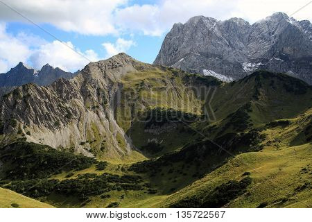 View On Summit Of The Alps (karwendel)