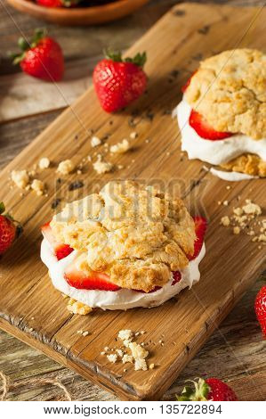Homemade Strawberry Shortcake With Whipped Cream