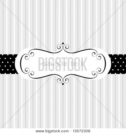 Template frame design for greeting card