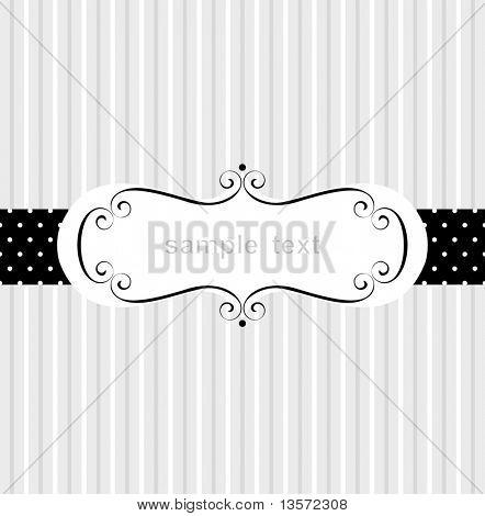 Diseño de marco de plantillas para tarjetas de felicitación