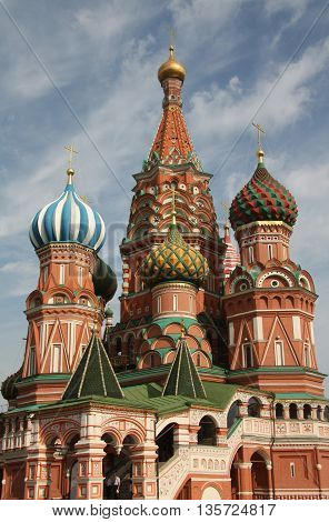 The Cathedral of Intercession of the Virgin on the Moat on the red square, Moscow, Russia