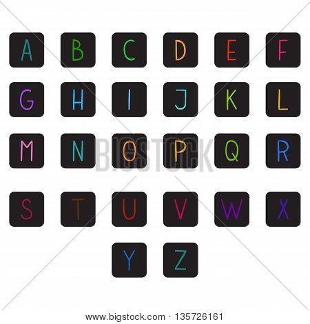 The vector Roman alphabet. For ui, web games, tablets, wallpapers, and patterns.