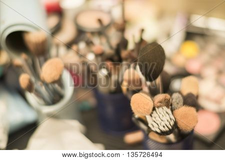 abstract of background of cosmetic selective focus