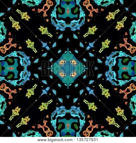 Ornamental pattern wallpaper tile dark background texture