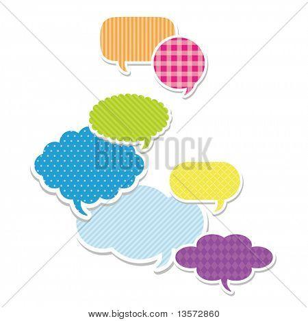 Dialog clouds. vector illustration