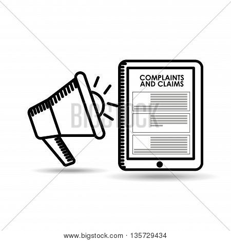 complaints and claims design, vector illustration eps10 graphic