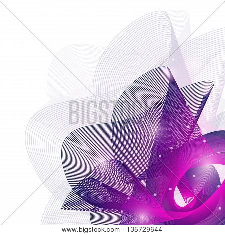 Colorful abstract texture. Vector design background. Violet abstract shape