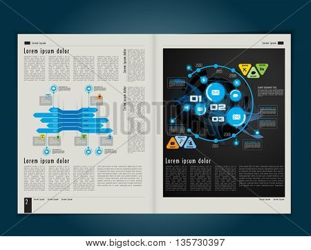 Brochure template for business, vector
