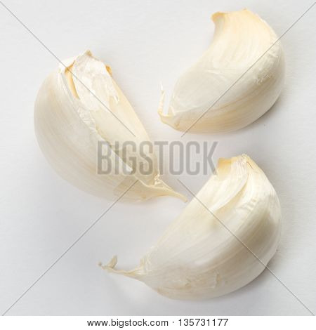 Fresh Garlic Cloves In Dull White Color