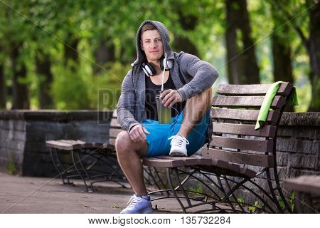 Man Taking Rest In The Park