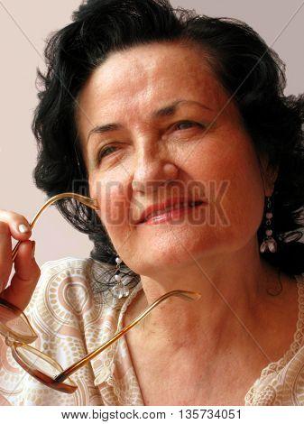 mature lady thinking