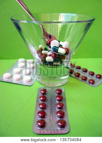 many colored pills