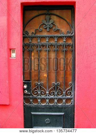 close up image of metal door