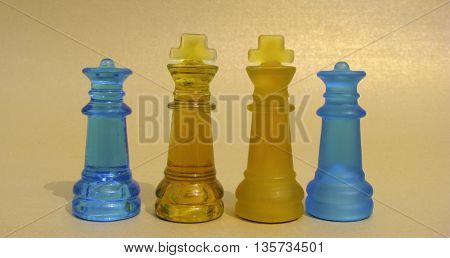 chess on gold background