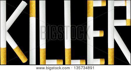 killer made of cigarettes