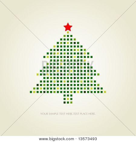cartão de Natal pontilhada