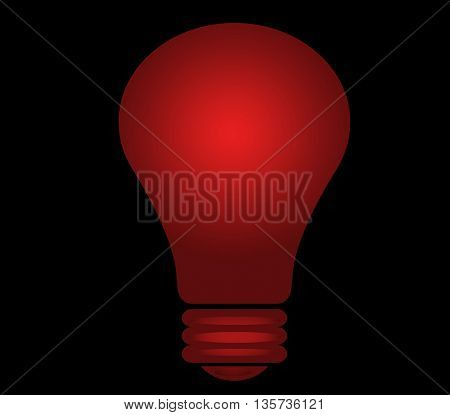 red shining lighbulb