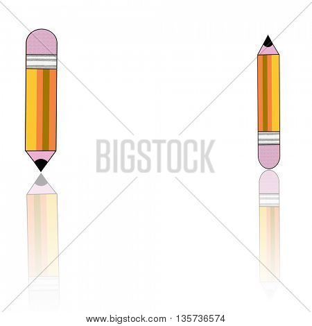 two yellow pencils