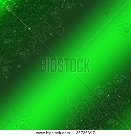 green light and flower