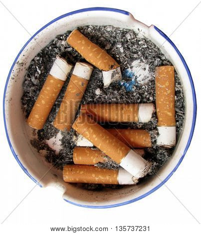 Cigarette in ash tray