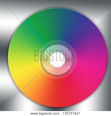 Disco cd  isolated on black-white background